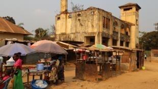 Gare de Mindouli dans le Pool, au sud du Congo-Brazzaville, le 23 juillet 2019.