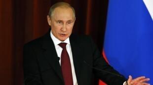 Владимир Путин на встрече с дипкорпусом в МИДе РФ в Москве 01/07/2014