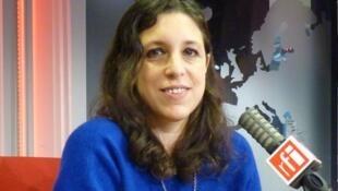 La escritora argentina Ariana Harwicz en RFI