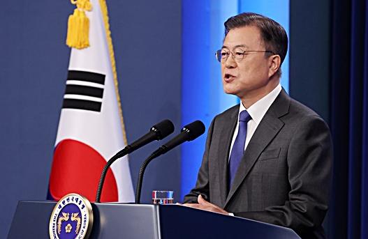 韓國總統文在寅資料圖片