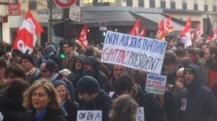 Manifestación en las calles de París, el pasado 9 de marzo de 2016.