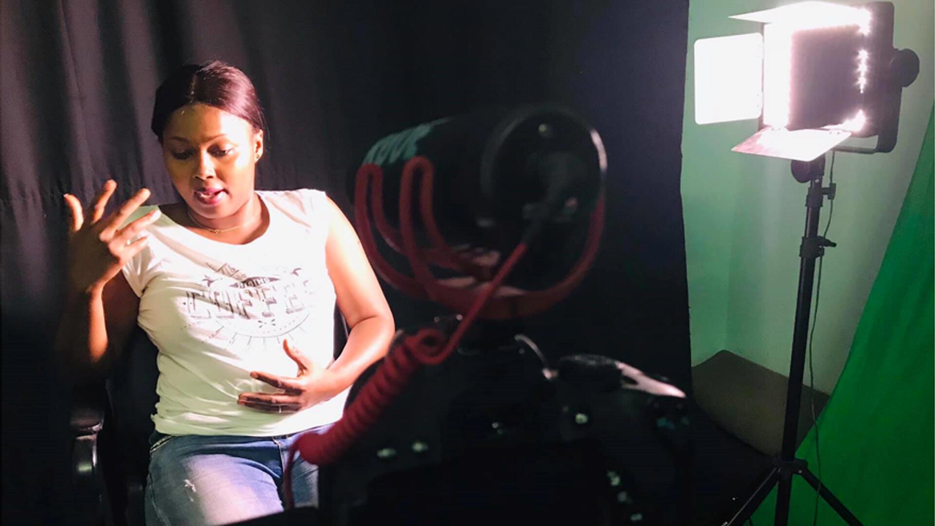 Mariama Samaké, présidente de l'association «Fille en Détresse» au Mali.