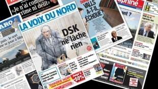 Capa dos jornais franceses desta quarta-feira, 11 destacam o processo de Dominique Strauss Kahn.