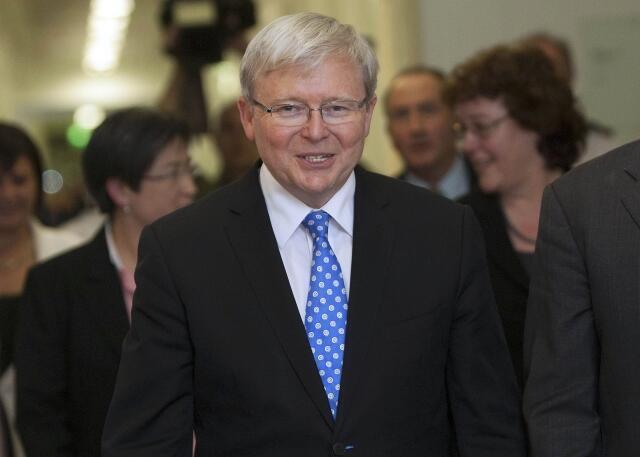 O futuro primeiro-ministro da Austrália, Kevin Rudd