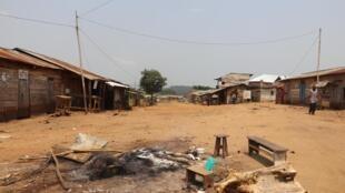 Bois de chauffe entretenu au beau milieu de la principale allée du village Halungupa par des jeunes qui organisent des patrouilles pour ne pas être surpris par les attaques des ADF (image d'illustration).