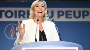 Marine Le Pen, Shugabar jam'iyyar masu ra'ayin rikau a Faransa.