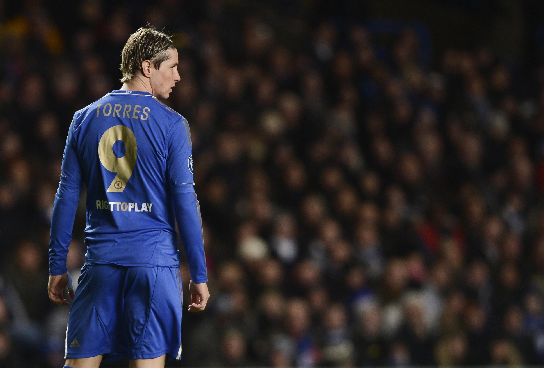 O atacante do Chelsea, Fernando Torres.