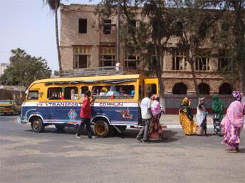 Place Faidherbe à Saint-Louis, Sénégal.