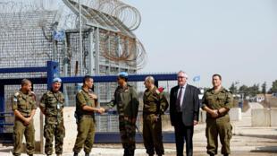 Réouverture du poste frontière en présence des forces israéliennes et de l'Onu, ce lundi 15 octobre 2018.
