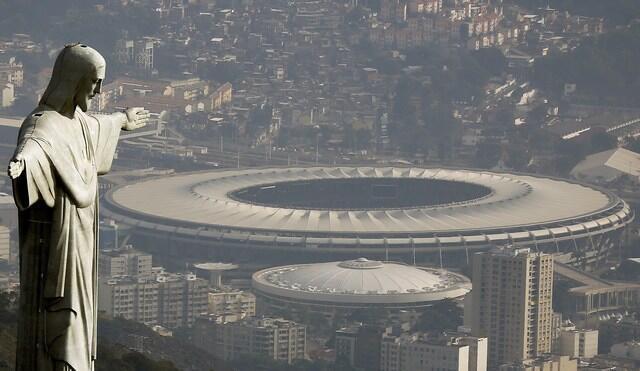 Le stade de Maracana à Rio de Janeiro, au Brésil, où s'est déroulée la cérémonie d'ouverture des JO 2016.