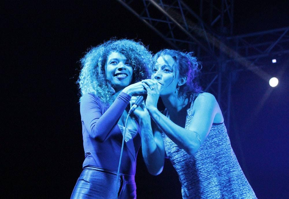 Flavia Coelho et Elisa do Brasil au festival Pop in Djerba, Tunisie.