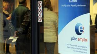 """Las agencias """"Pôle emploi"""" acompañan a la gente desempleada en su búsqueda de un trabajo."""