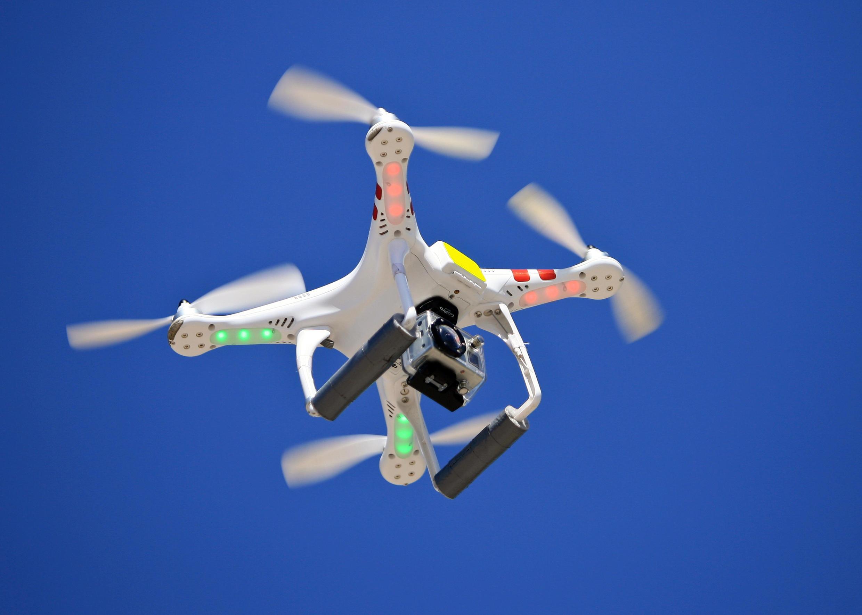 A drone in flight