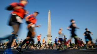 Athletics - Paris Marathon - Paris, France - April 14, 2019 General view during the marathon