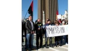 Акция в поддержку киевского Майдана на пл. Колумба в Мадриде