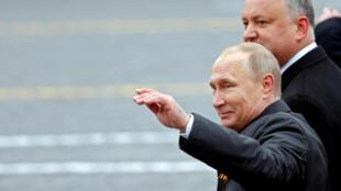 پوتین در مراسم سالگرد شکست آلمان نازی، میدان سرخ  مسکو