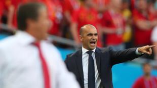 O treinador da Bélgica, Roberto Martinez
