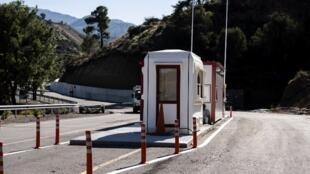 L'un des nouveaux points de passage, ici du côté grec de l'île le 30 octobre 2018, près du village de Lefka.