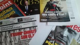 Capas de magazines news franceses de 26 de agosto de 2017