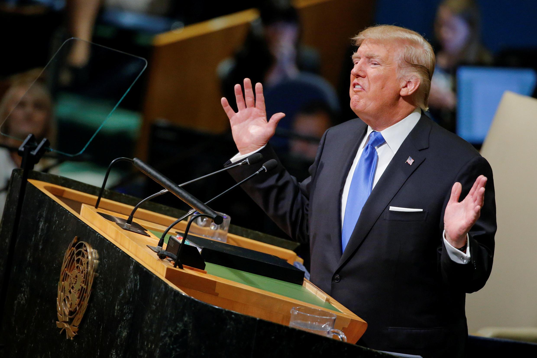 Tổng thống Mỹ Donald Trump phát biểu lần đầu tiên tại Đại Hội Đồng Liên Hiệp Quốc, ngày 19/09/2017.