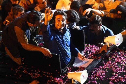 Bilawal Bhutto, ici le 21 juillet 2018 à Karachi, va devoir se faire un prénom.