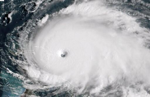 Image satellite montrant la tempête tropicale Dorian à l'approche des Bahamas, le 1er septembre 2019.