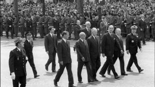Photo du Président de la République Française, Valéry Giscard D'Estaing, le 27 mai 1974