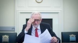 Lãnh đạo Công Đảng, đối lập chính tại Anh, Jeremy Corbyn, tại Luân Đôn (Ảnh chụp 02/04/2019).