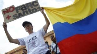 Манифестация против FARC в г. Кали в Колумбии 13/12/2014