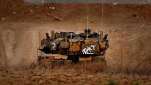 Un char de combat israélien près de la frontière avec la bande de Gaza, le 20 juillet 2018.