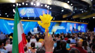 تجمع سازمان مجاهدین خلق ایران در حومه پاریس
