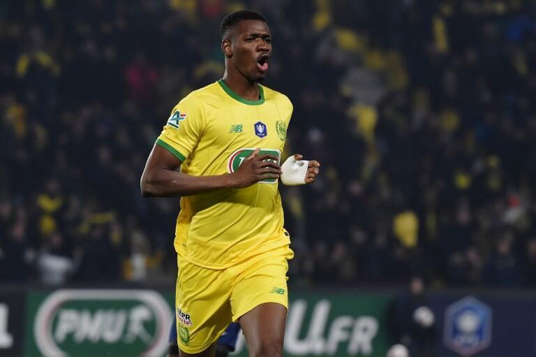 Le Malien Kalifa Coulibaly après un but en Coupe de France face à Chäteauroux, le 4 janvier 2019.