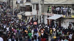 Manifestación opositora en Puerto Príncipe el pasado domingo