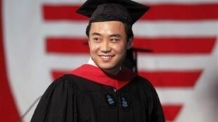 圖為疑似薄熙來的兒子薄瓜瓜就讀美國哈佛大學時照片