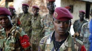 Des combattants de l'ex-Seleka. (Ici à Bria, au printemps 2014).