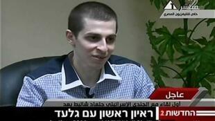 Gilad Shalit dijo gozar de buena salud a la televisión egipcia.