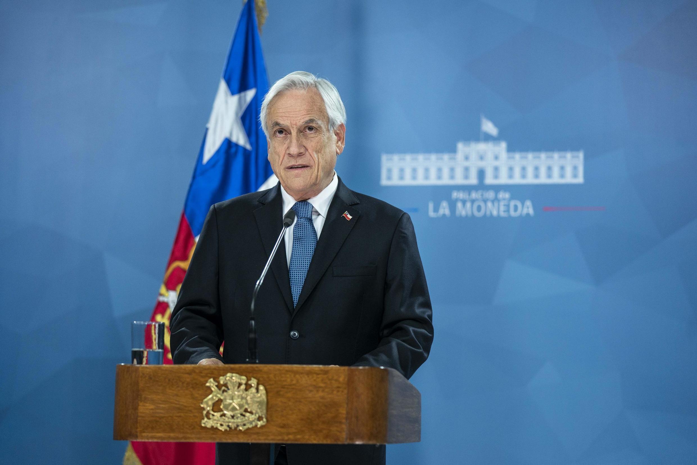 Presidente chileno Sebastian Piñera abriu caminho para o Senado aprovar referendo da revisão da constituição em 2020