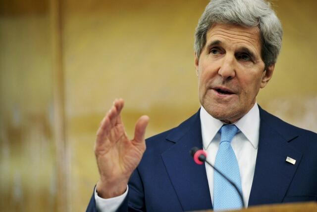 Le secrétaire d'Etat américain américain John Kerry lors de son déplacement en Jordanie le 17 juillet 2013.