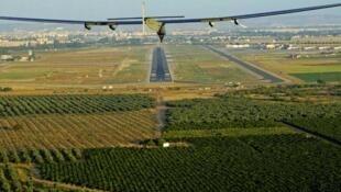 Avión Solar Impulse 2 en su anterior etapa