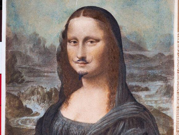 法國現代藝術家馬塞爾·杜尚的代表作之一:帶鬍子的蒙娜麗莎