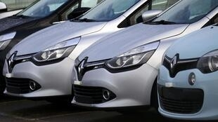 Renault cars parked outside an automobile plant in Aubergenville, France, 17 January 2016