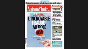 """Reportagem do jornal """"Aujourd'hui en France"""" desta segunda-feira (9) denuncia fraudes no setor vinícola francês."""