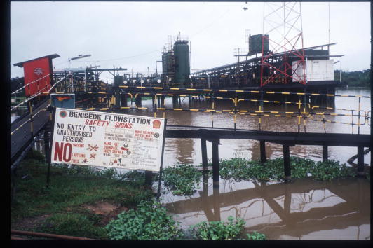 A Shell operation in Niger Delta