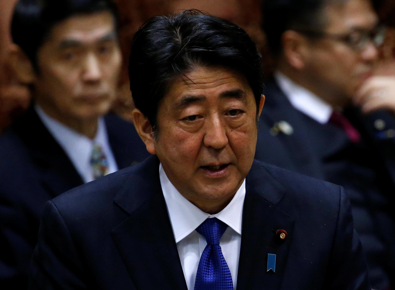 Waziri mkuu wa Japan, Shinzo Abe.