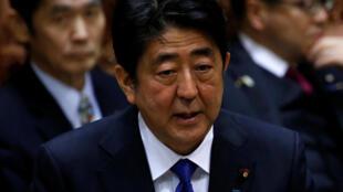 資料圖片:日本首相安倍晉三。攝於2017年3月6日