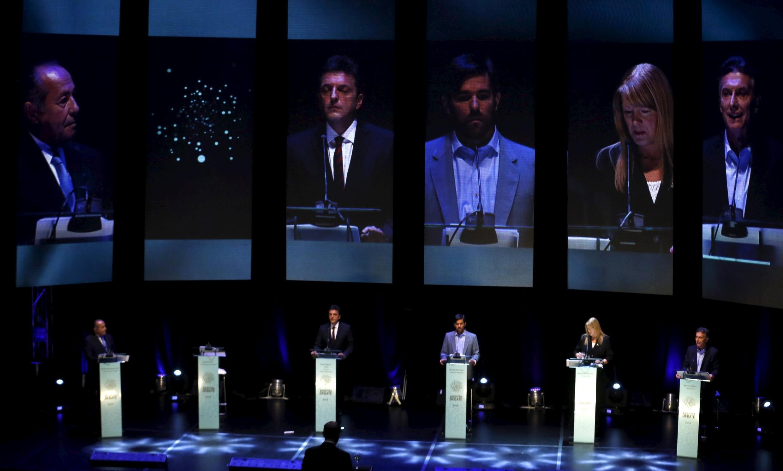 Daniel Scioli no quiso participar en el primer debate presidencial, este 4 de octubre de 2015 en Buenos Aires.