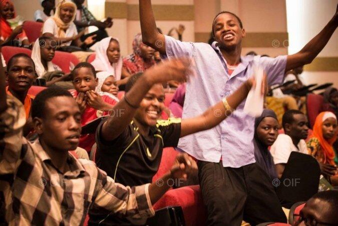 Des participants au Forum de la Jeunesse de l'OIF, au Niger (juin 2014).