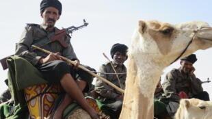 Des éléments du Groupement nomade de la Garde nationale mauritanienne.