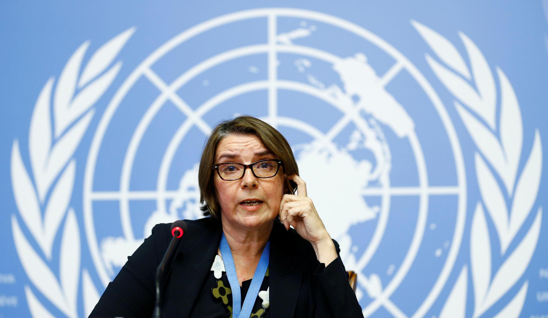 Thẩm phán Pháp Catherine Marchi-Uhel được Liên Hiệp Quốc chỉ định đứng đầu Cơ Chế Điều Tra Quốc Tế Vô Tư và Độc lập - MIII, điều tra về tội ác chiến tranh tại Syria, Geneve, Thụy Sĩ, ngày 05/09/2017.