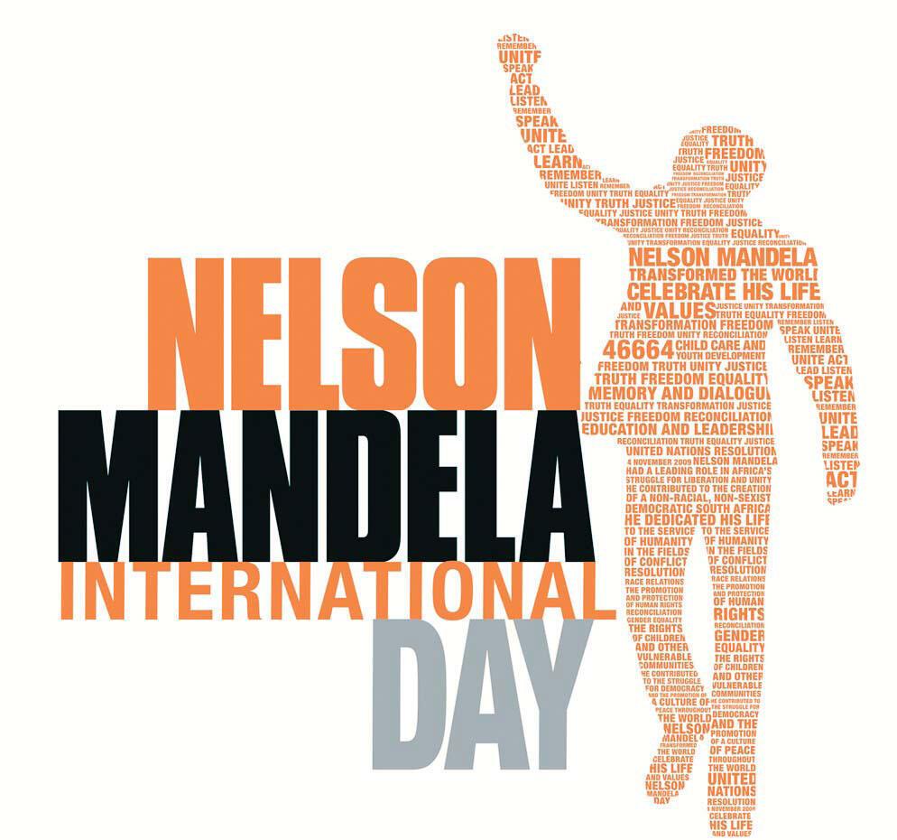 """Cartaz oficial da 4ª edição do evento internacional """"Mandela Day"""" celebrado essa quinta-feira."""